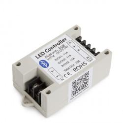 Controlador Tiras de LEDS RGB Bluetooth por Smartphone 12-24VDC 400-800W