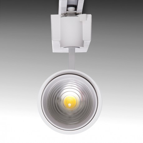 Variable Beam Single Phase LED Tracklight 10-60º 30W 2700Lm 50.000H