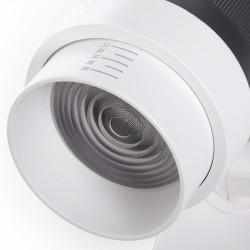 Foco para Carril de LEDs Monofásico Apertura Variable 10-60º 30W 2700Lm 50.000H