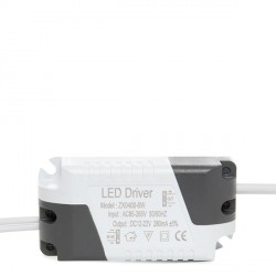 Driver No Dimable para Focos/Downlights LEDs 6W