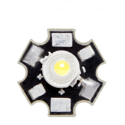 LED High Power 45x45 con Disipador 3W 220Lm 50.000H