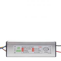 Driver No Dimable para Proyector de LEDs 70W