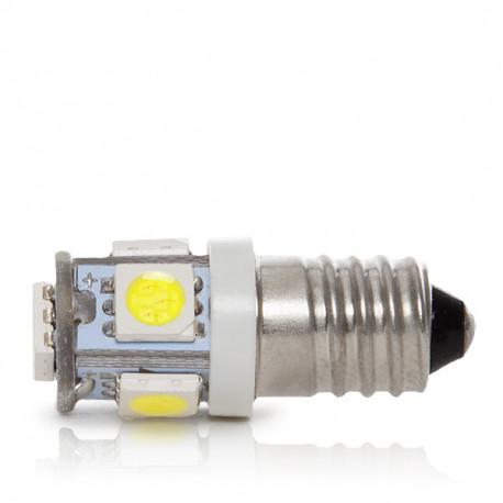 lámpada de leds e10 12vdc 1w 5 x smd5050