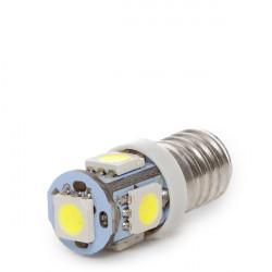 Lámpara de LEDs E10 12VDC 1W 5 X SMD5050