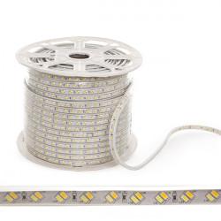Tira de LEDs 230VAC SMD5630 120LEDs 30W/Metro Cálido/Frío IP65 (Por Metros)