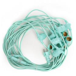 Mint Green Light String 11 x E27 IP44 12,5 Metres