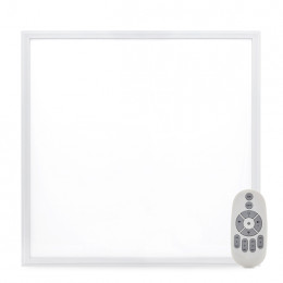 Panel de LEDs Marco Blanco 595x595x12mm con Control Remoto (Intensidad-Temp. Color) 36W 30.000H