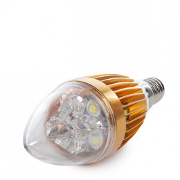 Lámpara Bombilla de LEDs Vela E14 5W 12VAC/DC 400Lm 30.000H