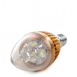 Lámpara Bombilla de LEDs Vela E14 3W 12VAC/DC  240Lm 30.000H
