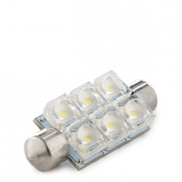 Lámpara Bombilla de LEDs Festoon 6 x Ojo Pez 42mm