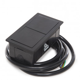 Versahit  Mono   B  -   2 X  USB   Cargador  5V - Negro Mate