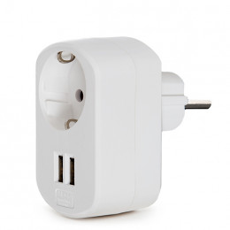 Adapter 1 X Power Jack 2 X USB Charger - IP20 - White