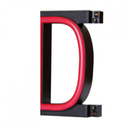 "LED Neon Letter ""D""  Width 100mm Height 161mm Depth 38mm"