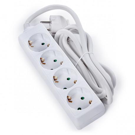 Mehrfachanschluss - 4 SCHUKO-Steckdosen - Kinderschutz - 3G 1.5mm2 ...