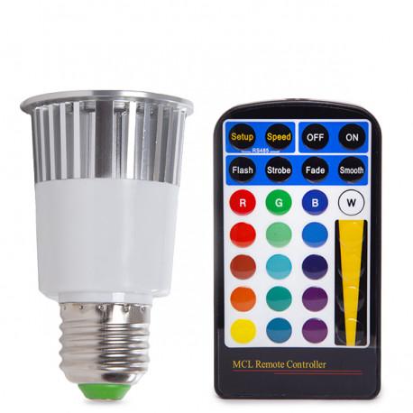 E27 RGB LED Bulb 5W with Remote Control