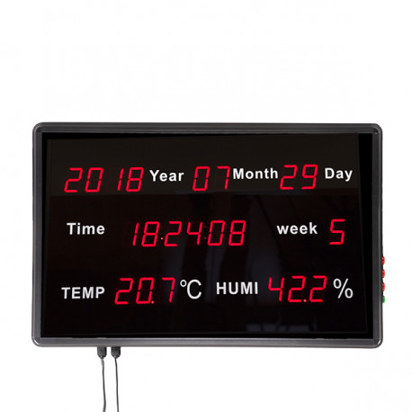 LED Display Panel Time / Date / Week / Temperature / Humidity 60.1 x 38.3 x 5.5mm