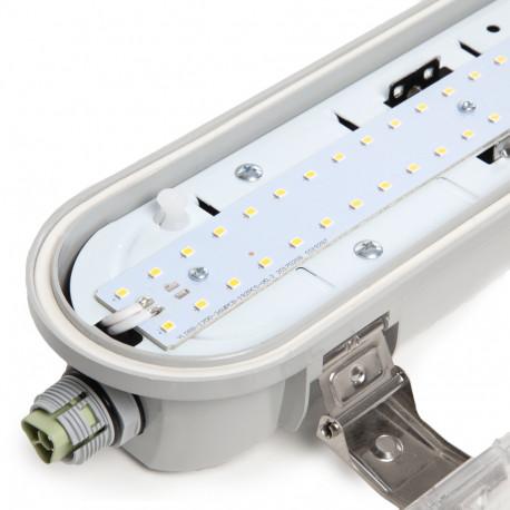 LED Watertight Luminaire IP65 1200Mm 36W 140Lm/W 50.000H