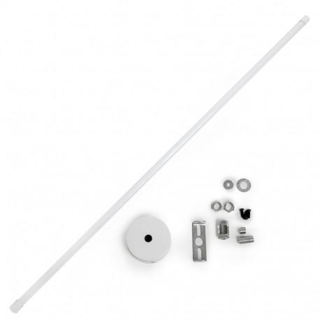 Extensible Suspension Pole Track Light Rail 75 ► 150Cm - White