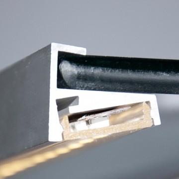 Mensole Di Vetro Con Led.Profilo Led In Alluminio Per Mensole Di Vetro Spesso 6mm Striscia Di 1 Metro