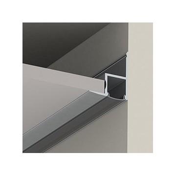 perfíl aluminio para tira de leds instalación techos falsos difusor