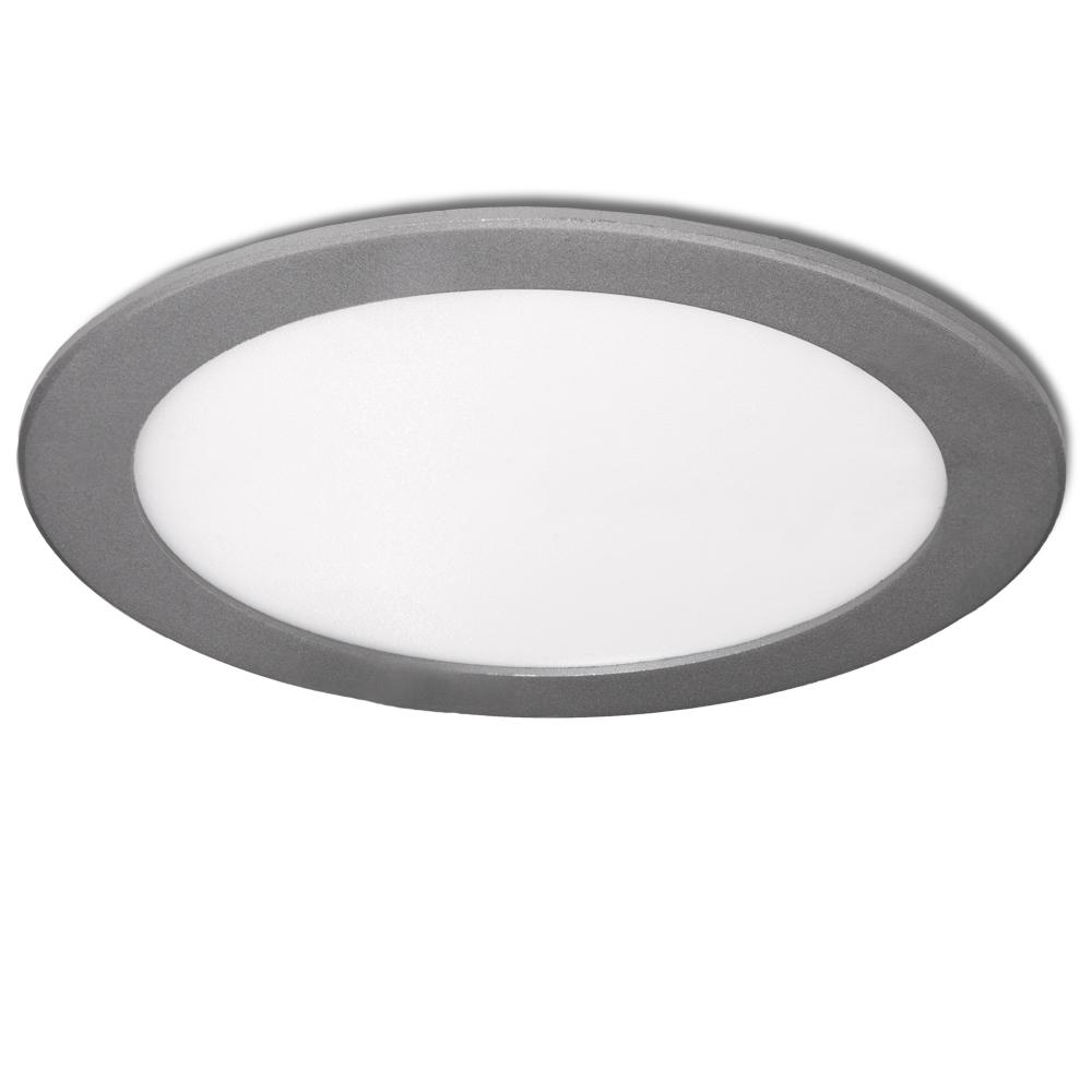 Placa de LEDs Circular 225M 18W 1350Lm 30.000H Plata