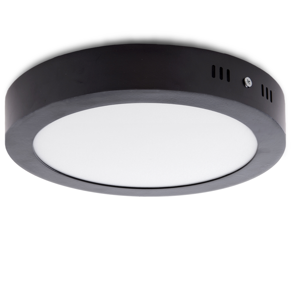 Ceiling Light Led Round Surface Mounted O215mm 18w 1450lm 30 000h Black