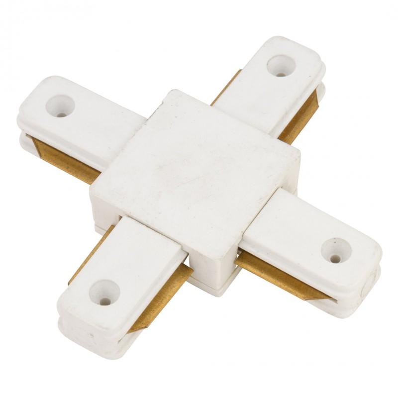 Conector X para Carril Color Blanco
