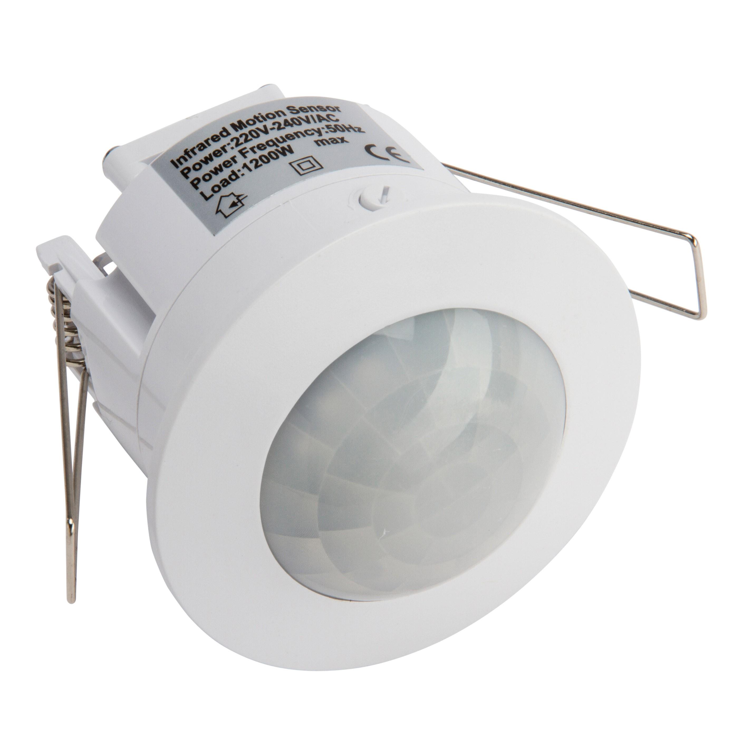 360 grados empotrable 1200 W Interruptor de luz de detecci/ón de movimiento