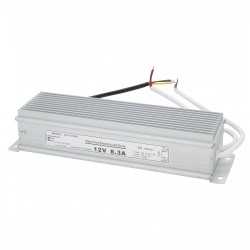 Transformador LEDs 100W 230VAC/12VDC Exterior IP67