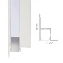 Hanging Ceiling Mounted Aluminium LED Profile - Opal Diffuser - 1-Metre Strip