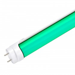 Tubo de LEDs 1200mm 18W 30.000H Difusor Opal Color Verde