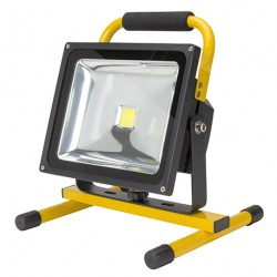 Proyector de LEDs para Exterior con Batería Recargable 30W 3000Lm 30.000H