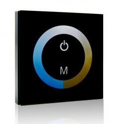 Controlador Empotrable Táctil para Tiras de LEDs DUO (Blanco Frío-Cálido) 12-24VDC hasta 144/288W
