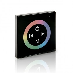 Recessed Touch Controller with Remote for RGB LED Strips 12-24VDC to 144/288W