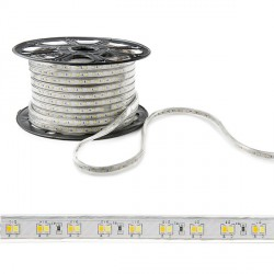 LED Strip 230VAC SMD2835 120LEDs 12W/Metre Warm/Cool IP65 (By the metre)