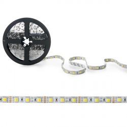 Tira de LEDs 12VDC SMD5050 60LEDs 14,4W/Metro Cálido/Frío IP25 5M