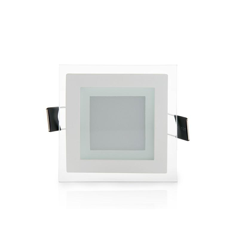 Downlight de LEDs Cuadrado con Cristal 95x95mm 6W 450Lm 30.000H (2)