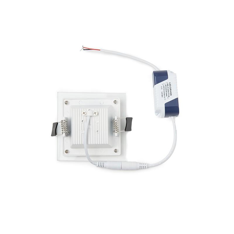 Downlight de LEDs Cuadrado con Cristal 95x95mm 6W 450Lm 30.000H (3)