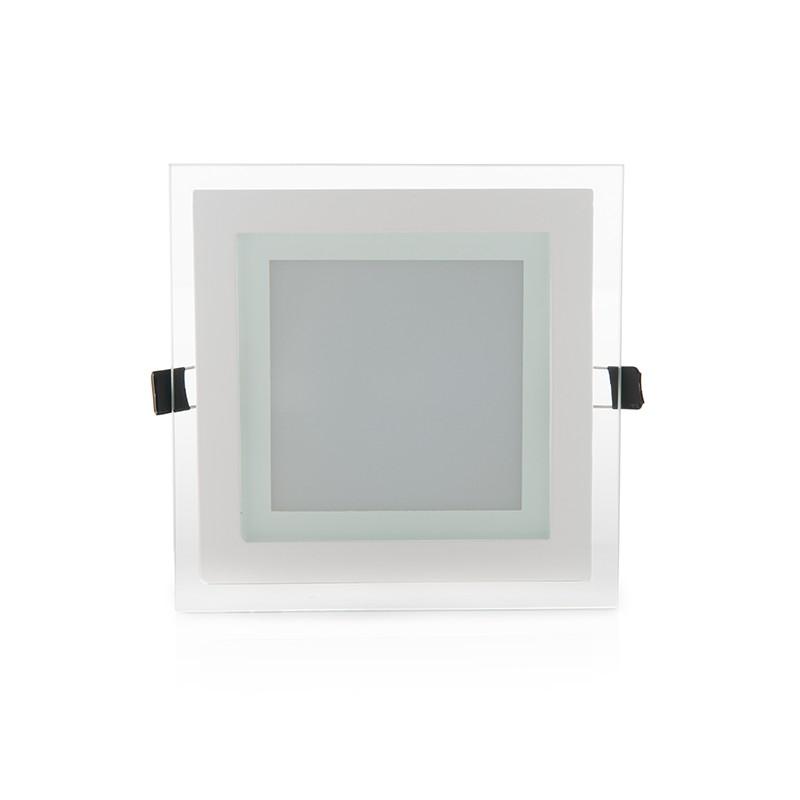 Downlights de LEDs Cuadrado con Cristal 160x160mm 12W 900Lm 30.000H (2)