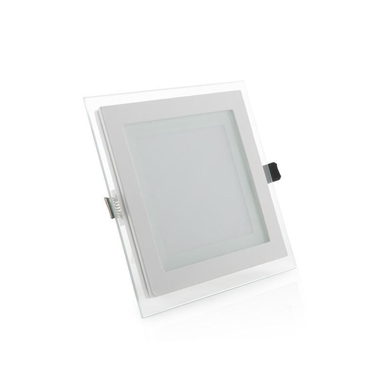 Downlights de LEDs Cuadrado con Cristal 160x160mm 12W 900Lm 30.000H (1)
