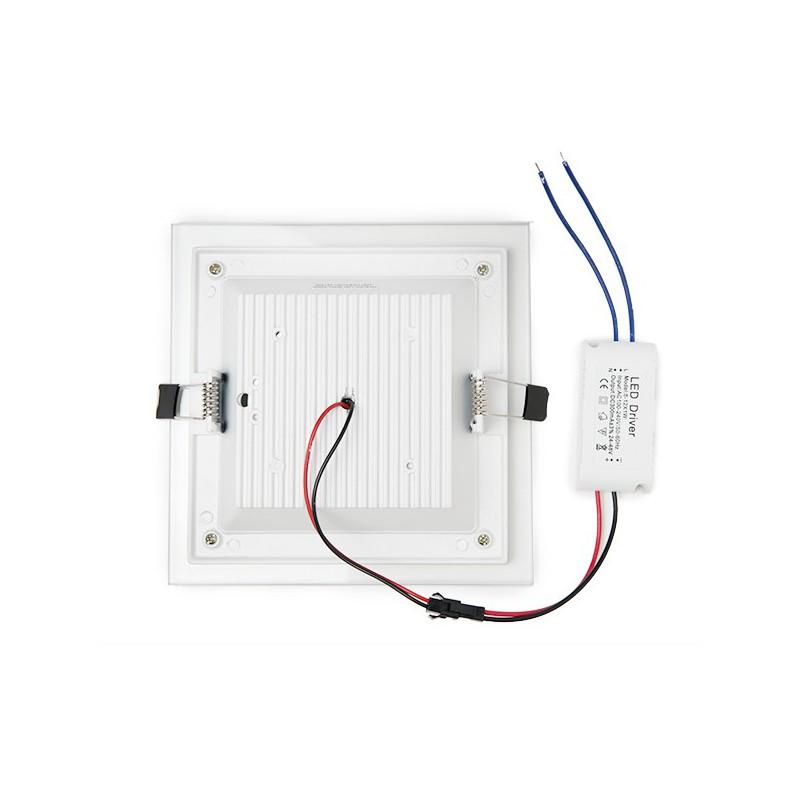 Downlights de LEDs Cuadrado con Cristal 160x160mm 12W 900Lm 30.000H (4)