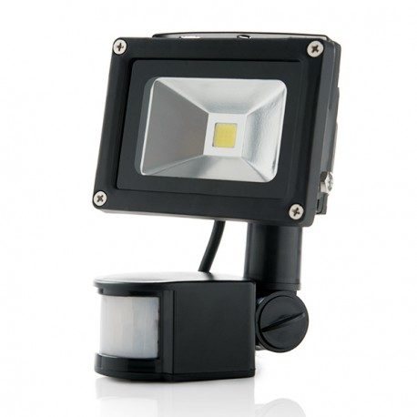 LED Floodlight IP65 Movement Detector 10W 850Lm 30.000H