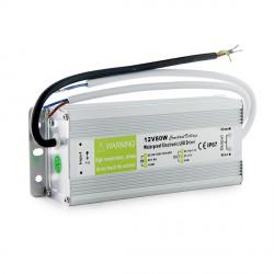 Transformador LEDs 80W 230VAC/12VDC Exterior IP67