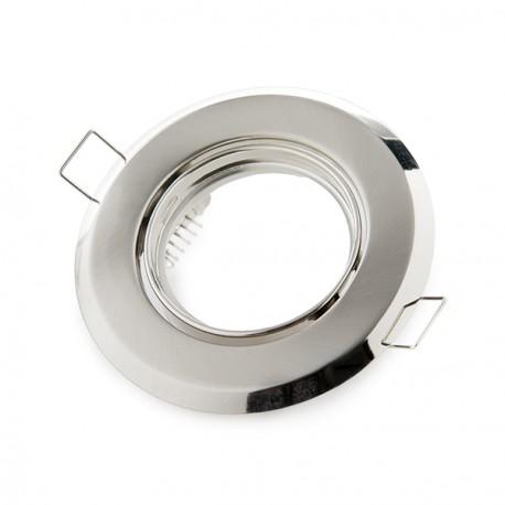 Aro Downlight Basculante Circular Aluminio Color Blanco 95/75mm (copy) (copy)
